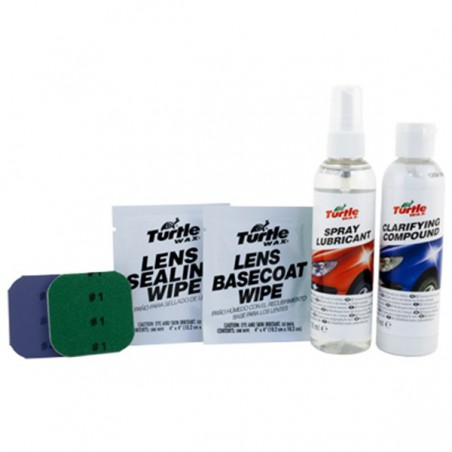 Kit restaurador de faros TURTLE WAX