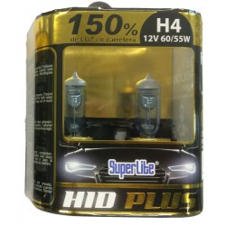 Bombillas hálogenas H4 SUPERLITE HID PLUS