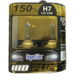 Bombillas hálogenas H7 SUPERLITE HID PLUS