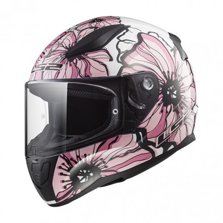 Casco LS2 F353 Rapid Poppies