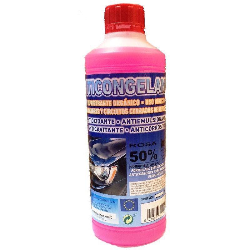 Anticongelante rosa 50% 1 litro