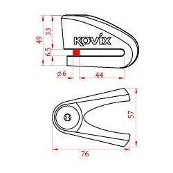 Antirrobo disco KOVIX KVC