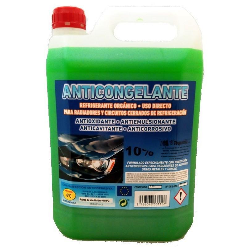 Anticongelante Verde 10% 5 litros