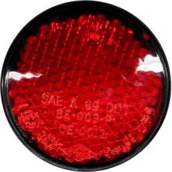 Reflectante redondo rojo homologado
