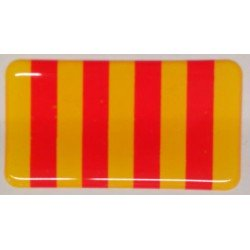 Adhesivo bandera ESPAÑA resina
