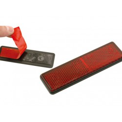 Reflectante rectangular rojo adhesivo