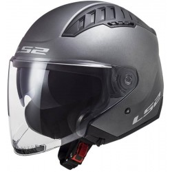 Casco jet LS2 OF600 COPTER Titanium mate
