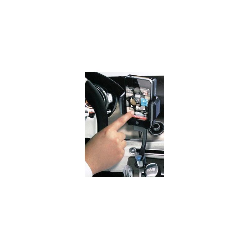 Transmisor MP3-FM Soporte móvil y cargador iPod/iPhone